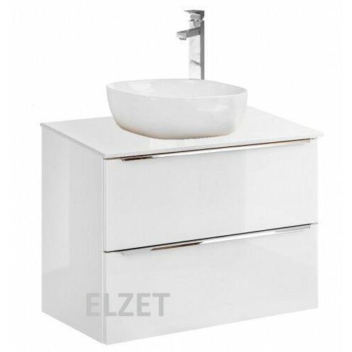 COMAD szafka Capri White 80 2S biały połysk/dąb craft złoty pod umywalkę nablatową + blat 80 biały połysk CAPRI WHITE 821 + 891