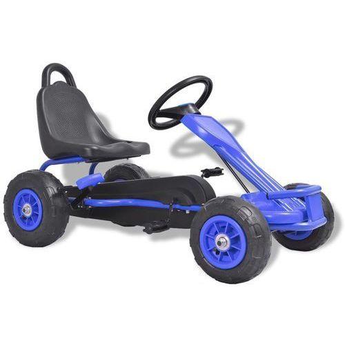 gokart na pedały, z oponami pneumatycznymi, niebieski marki Vidaxl