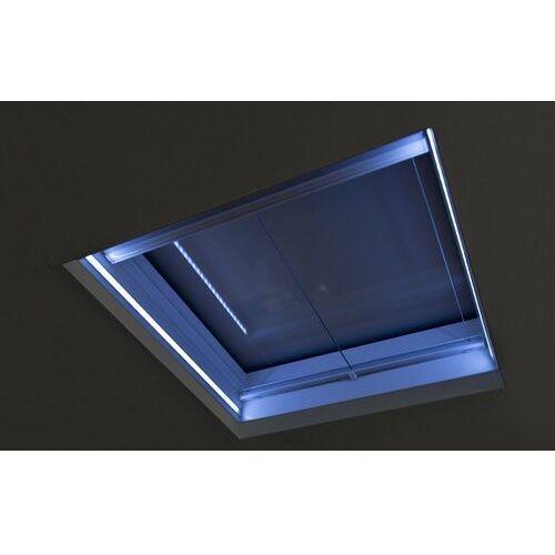 Okno do dachów płaskich OKPOL PGX A1 PVC 140x140 nieotwierane z oświetleniem LED (5901591168566)