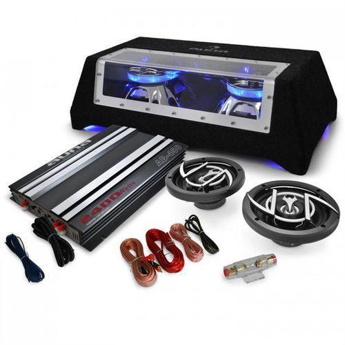 Elektronik-star 2.1 car hifi platin line 320 wzmacniacz głośniki subwoofer (4260275629382)