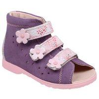 Sandałki profilaktyczne ortopedyczne buty 1041 fiolet fjkp - fioletowy ||różowy ||multikolor marki Dawid