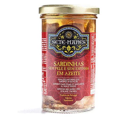 Sete mares Sardynki bez skóry i ości w oliwie z oliwek 250g
