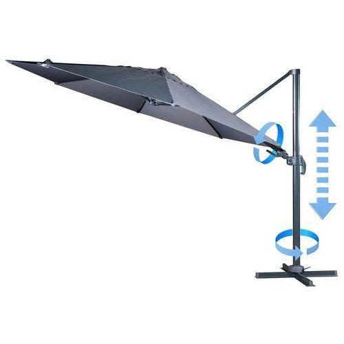 parasol ogrodowy boczny verona 3,5 m, szary marki Makers