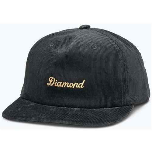 czapka z daszkiem DIAMOND - City Script Corduroy Snapback Black (BLK) rozmiar: OS, kolor czarny