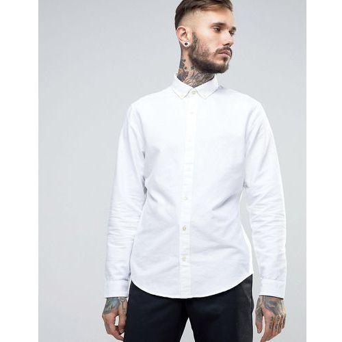Original Penguin Slim Oxford Shirt Buttondown Tonal Logo in White - White