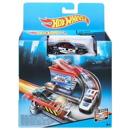 Hot Wheels, Tollbooth, mały zestaw do zabawy z samochodem z kategorii Tory wyścigowe