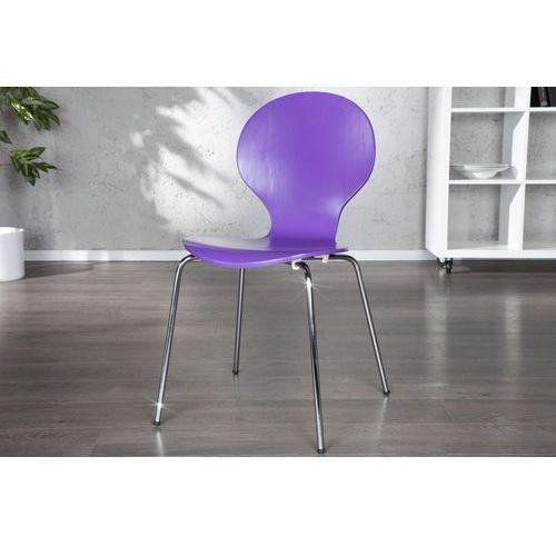 Krzesło Shape purpurowe - fioletowy