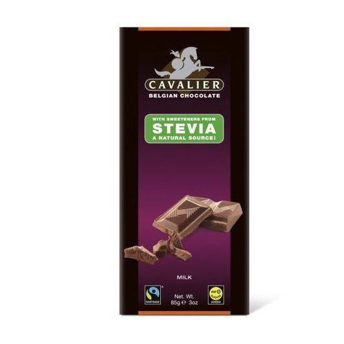 Belgijska czekolada mleczna słodzona stewią, bez cukru, 85g - sprawdź w wybranym sklepie