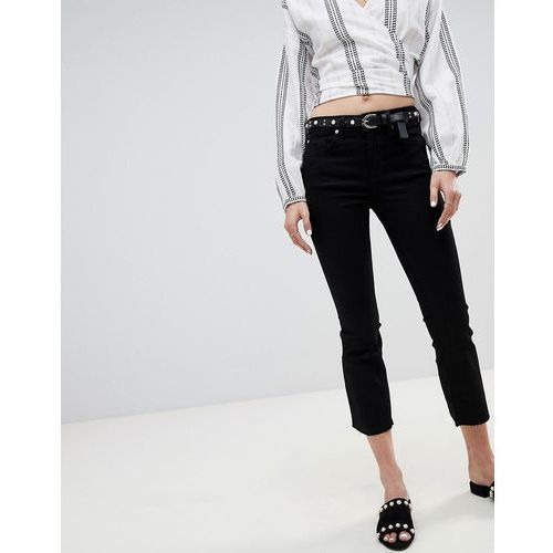 cropped flare jeans - black, River island