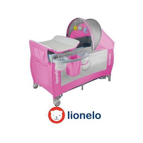 - łóżeczko turystyczne sven plus - różowo-szare - 50610 marki Lionelo