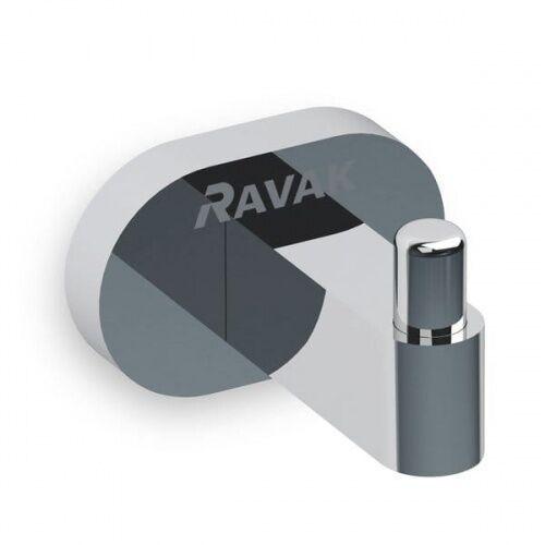 RAVAK Chrome Pojedynczy wieszak na ręcznik CR 110.00, kolor CHROM X07P320, X07P320