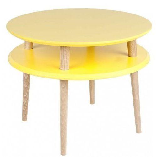 Ragaba Stolik ufo medium żółty h. 45 ø 57 cm