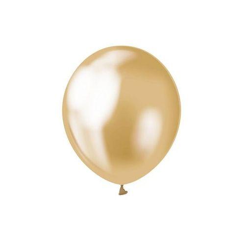 Balony lateksowe platynowe złote - 30 cm - 7 szt. marki Beauty & charm