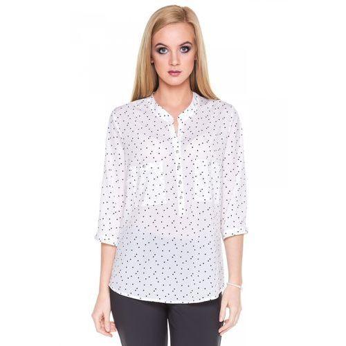 Koszulowa bluzka w kropki - Duet Woman, 1 rozmiar