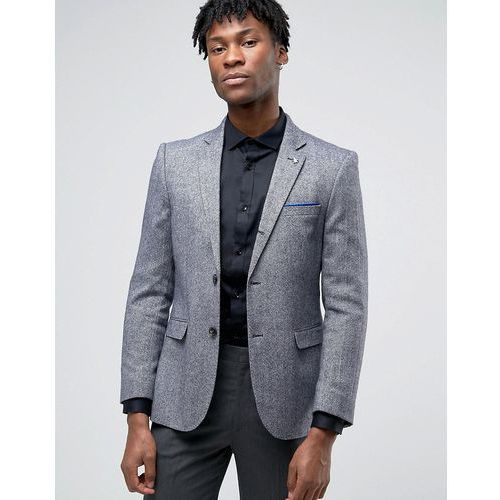 Original Penguin Formal Navy and White Textured Jacket - Navy