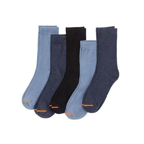Skarpetki (5 par) bonprix niebiesko-pomarańczowy, kolor niebieski