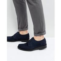 derby shoes in navy suede - blue marki Dead vintage