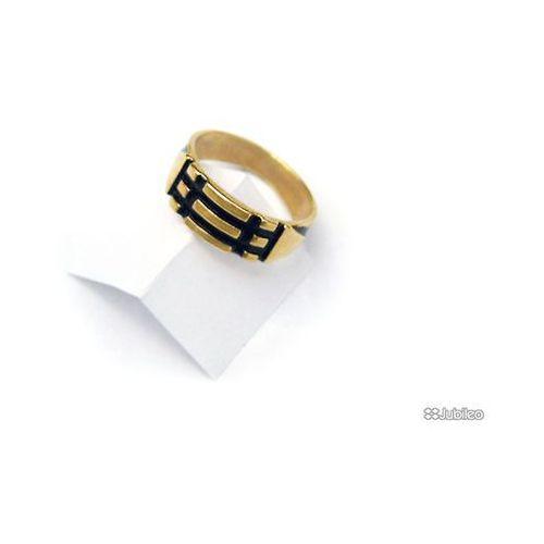 PIERŚCIEŃ ATLANTÓW POZŁACANY talizmany kolor złoty kolor czarny symbole egipskie