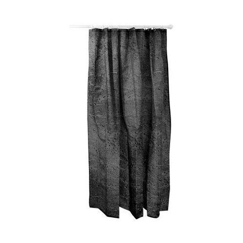 Duschy Zasłonka prysznicowa materiałowa 180x200cm water czarna 627-87
