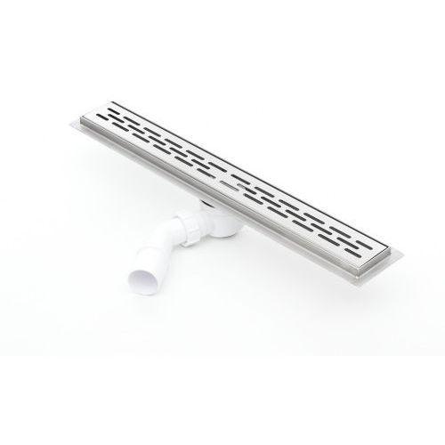 Kesmet Odpływ liniowy silver stripes 900kf_p 90 cm (syfon plastik)