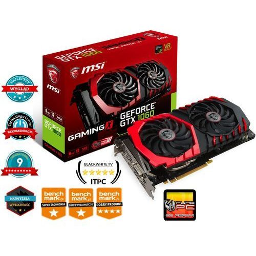 MSI GeForce GTX 1060 GAMING X 6G 6GB GDDR5 (192 Bit) 3xDP, HDMI, DVI-D, BOX (GTX 1060 GAMING X 6G) (5900000014531)