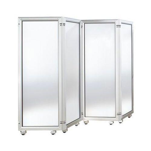 Bruno klein systembau System parawanów, element ze szkłem akrylowym, wys. x szer. 1800x600 mm, satynow