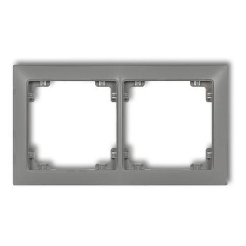 DECO Ramka uniwersalna podwójna z tworzywa DECO Soft srebrny metalik 7DRSO-2 (5901832008934)