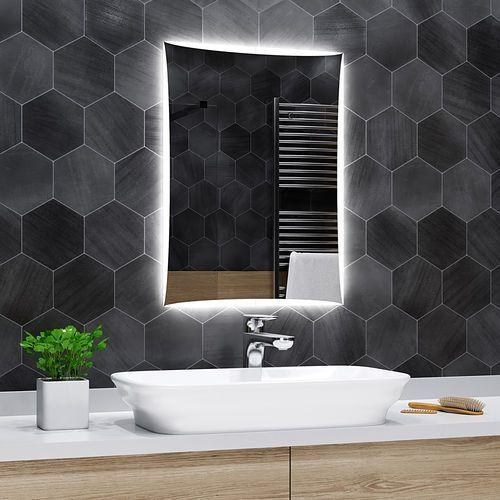 Lustro łazienkowe z podświetleniem led - 50x60cm - lisbona marki Alasta