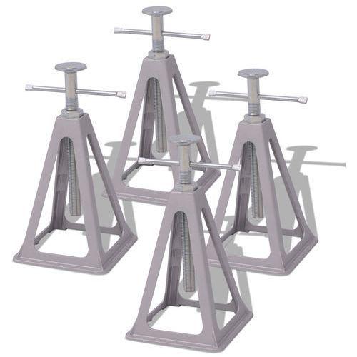 stabilizatory pod przyczepę kempingową 4 szt. 285-430 mm aluminiowe i metalowe marki Vidaxl