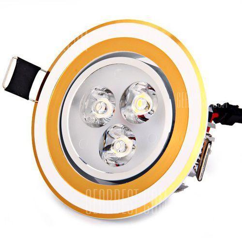 3W 360 Lumens 85 - 265V White Light Ceramic Heat Dissipation Golden Ceiling Lamp - sprawdź w wybranym sklepie