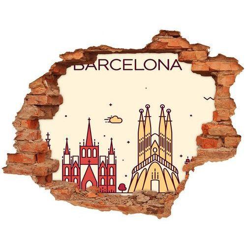 Samoprzylepna dziura na ścianę Napis Barcelona