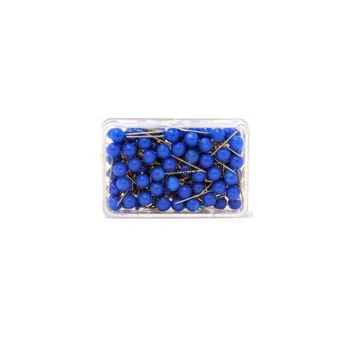 Szpilki do tablic kork/tekstyl 100szt niebieski marki Magnetoplan