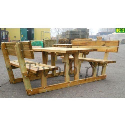 Stół drewniany do ogrodu