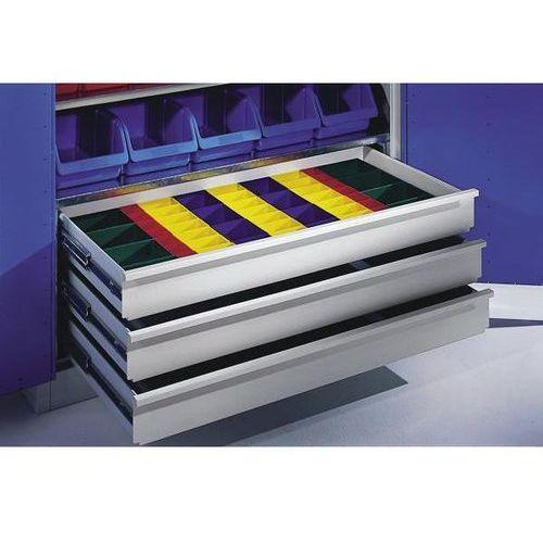 Zestaw przegród do szuflad, skrzynki z tworzywa, do szafy o głęb. 500 / 600 mm. marki C+p möbelsysteme