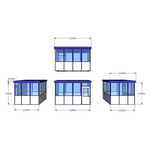 Bkm metallbau Budynek uniwersalny, wypełnienia z narożnikami, na zewnątrz, dł. x szer. 4050x30
