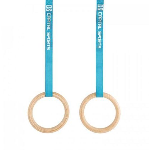 Capital sports Comp rings kółka treningowe obręcze gimnastyczne drewno złącze zatrzaskowe taśmy