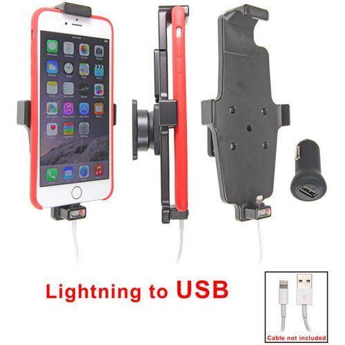 Uchwyt do apple iphone xr w futerale z możliwością wpięcia kabla lightning usb marki Brodit ab