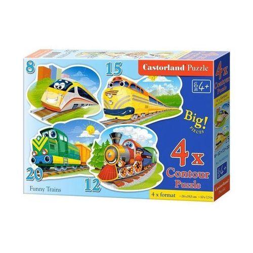 Puzzle x 4 - Zabawne pociągi CASTOR, AM_5904438043033