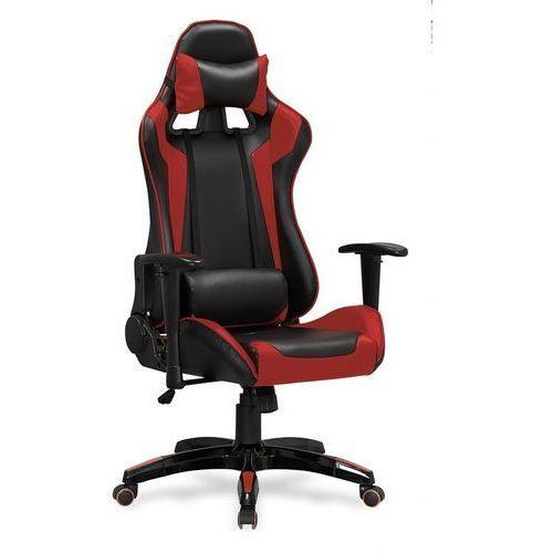 Fotel gamingowy defender czerwony - fotel dla gracza marki Halmar