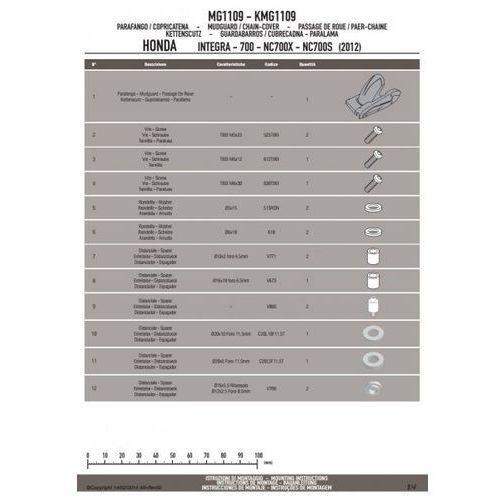 Givi mg1109 osłona błotna honda integra 700 / nc700 / nc750 (12-14)
