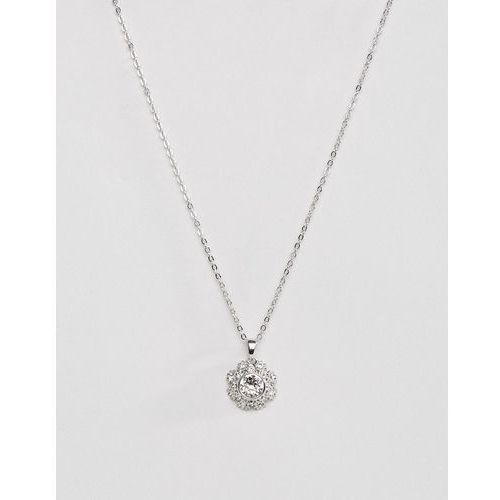 Ted Baker Silver Sirou Crystal Daisy Lace Pendant - Silver