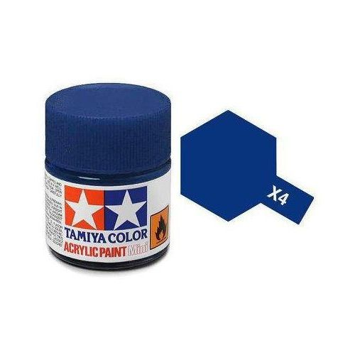 Farba akrylowa - x4 blue gloss / 10ml 81504 marki Tamiya