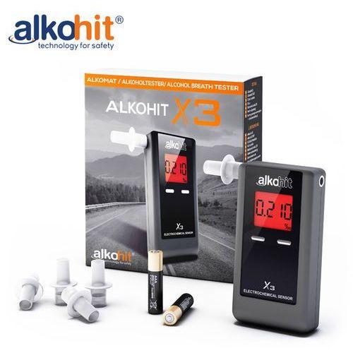 Alkohit Alkomat x3 elektorchemiczny + kalibracje + etui + gratis