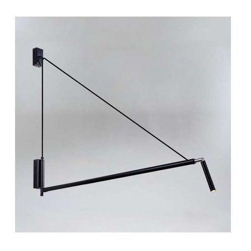 Kinkiet LAMPA ścienna NURH 9019/G9/CZ/CZ Shilo metalowa OPRAWA na wysięgniku tuba czarna