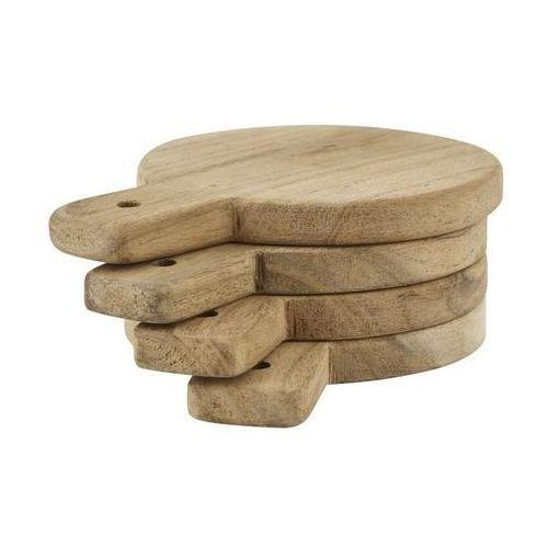 Nicolas vahe Deski do serwowania okrągłe drewniane 4 szt.