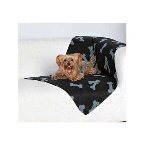 Deka pro psy BEANY černá a šedé kosti 100x70cm TR (4011905371924)