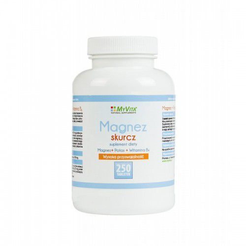 Magnez skurcz Magnez + Potas + B6 250 tabletek MyVita