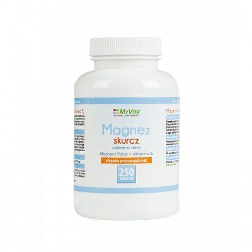 Tabletki Magnez skurcz Magnez + Potas + B6 250 tabletek MyVita