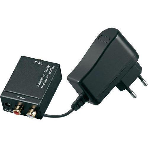 Adapter AV Goobay Digital-Analog, koncentryk/toslink (31963) Darmowy odbiór w 20 miastach! z kategorii Pozostałe RTV