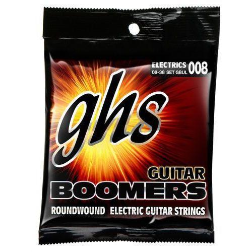 guitar boomers struny do gitary elektrycznej, ultra light,.008-.038 marki Ghs